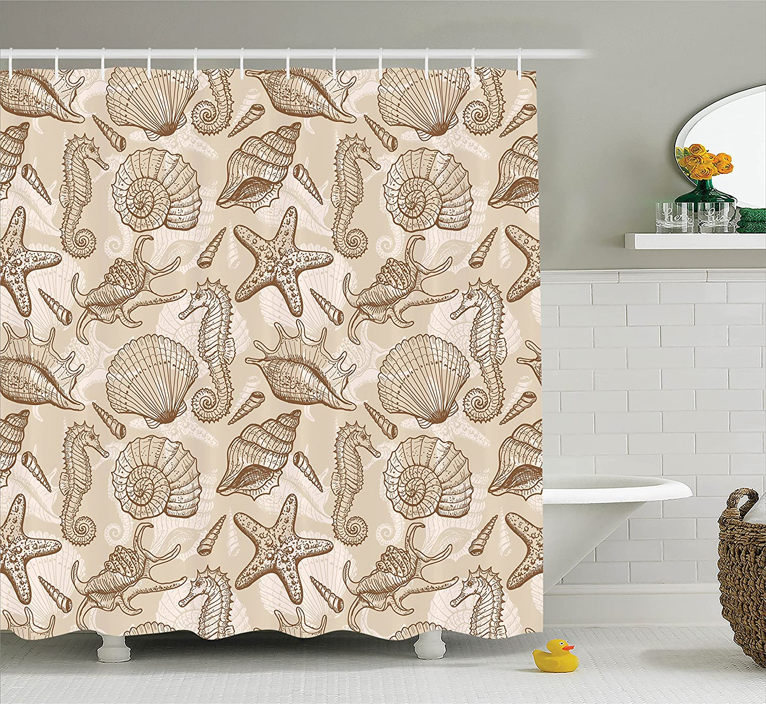 Bathroom Accessories Turquoise Ambesonne Turquoise Decor Shower Curtain Set llustration of Floral Victorian Style Curvy Lines Wave Water Butterfly Pattern Design 75 Inches Long