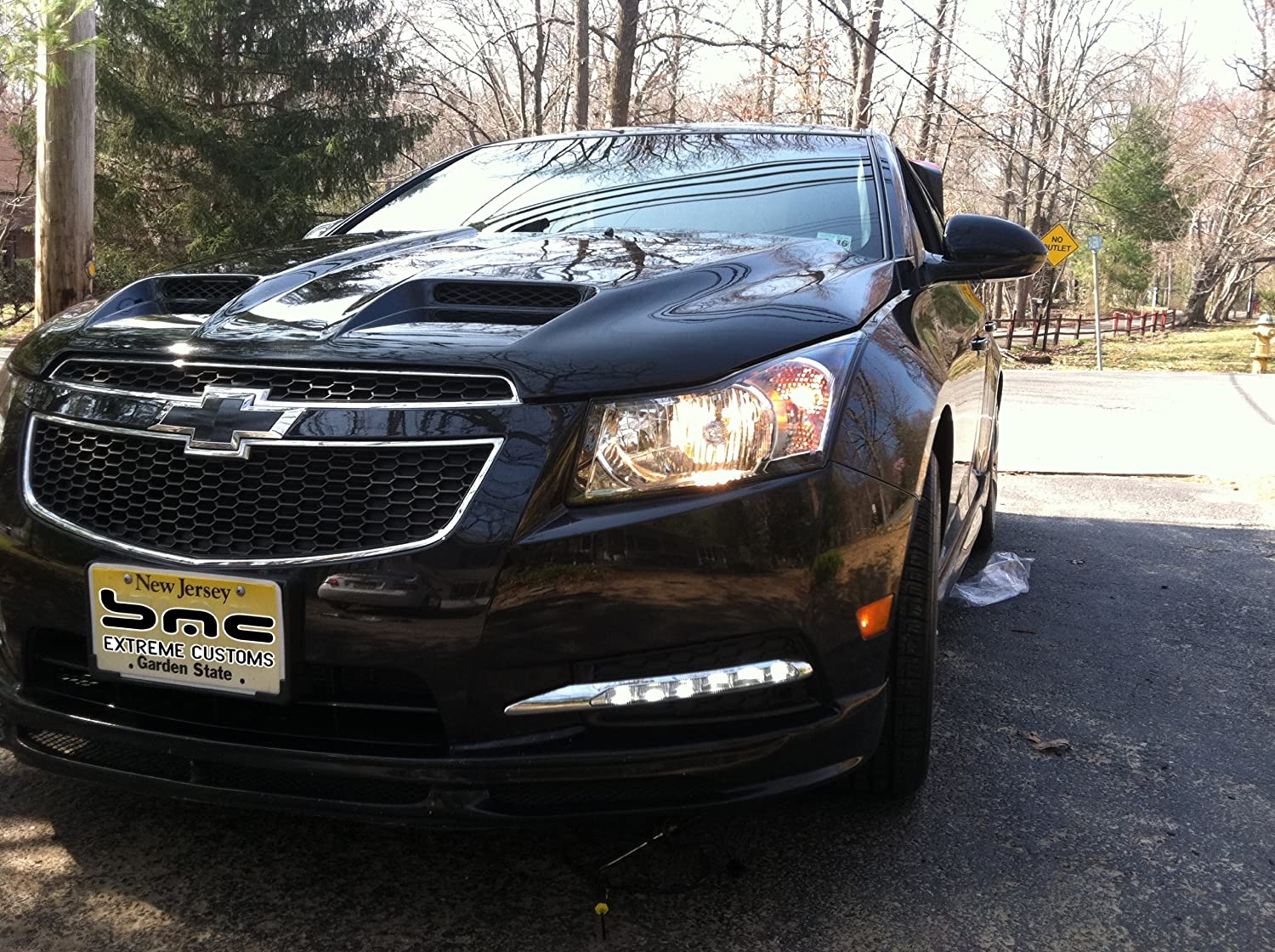 Cruze chevy cruze 2012 : Amazon.com: 2011-2013 Chevy Cruze LED Long Chrome Fog Daytime ...