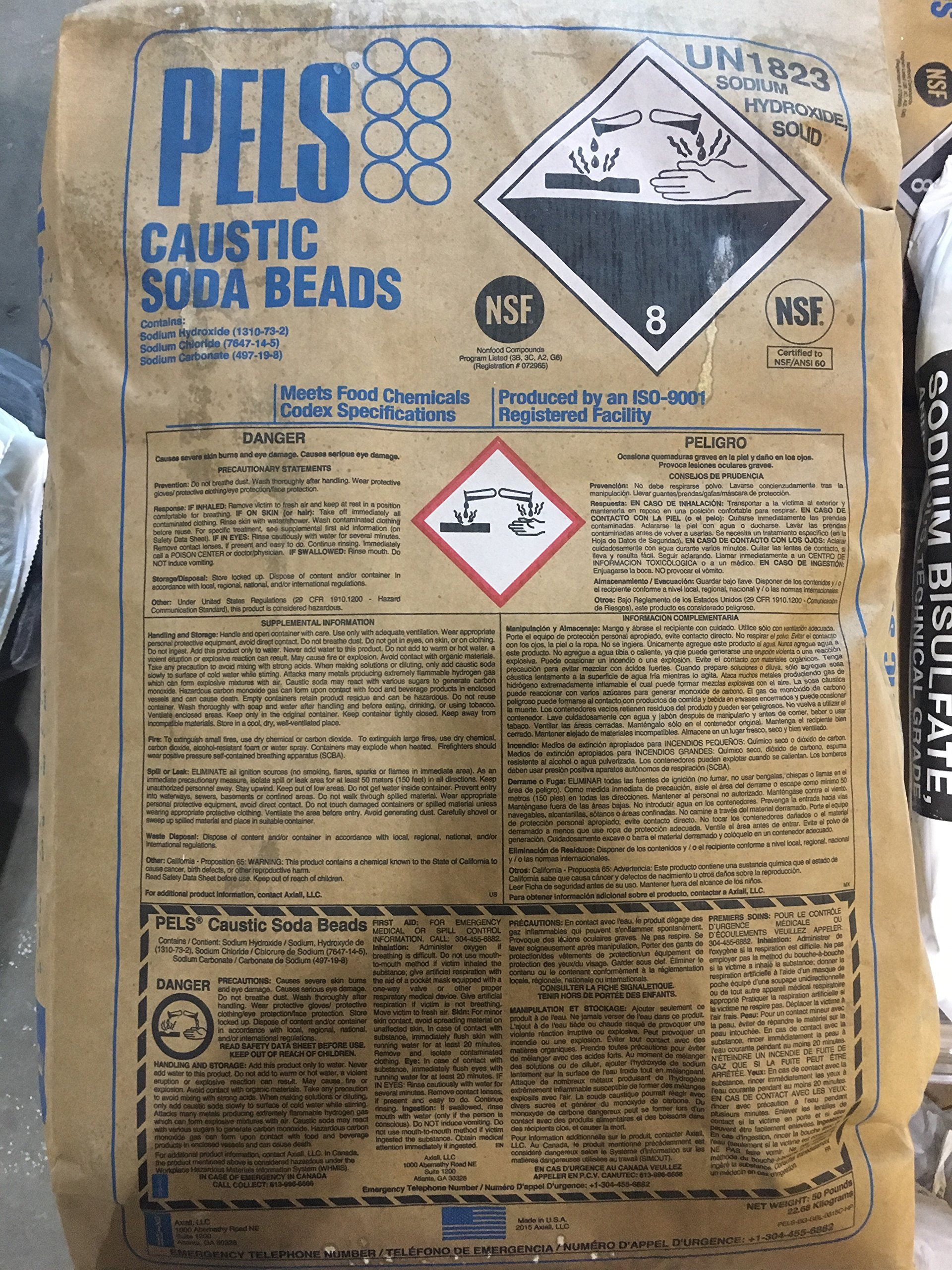 Sodium Hydroxide Minimum 99% purity! 50LB BAG