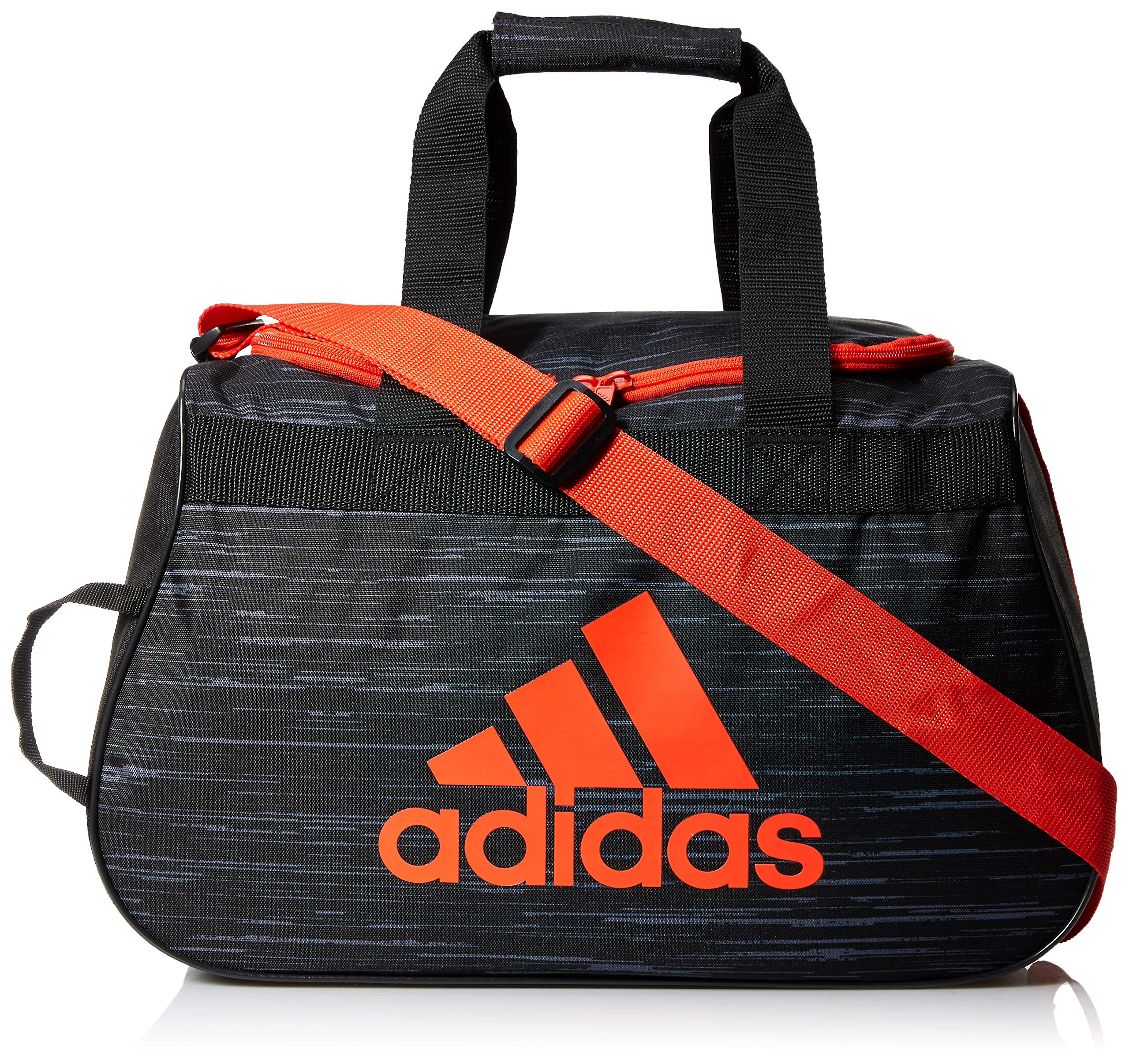 adidas Diablo Duffel Bag, Black Looper/Hi-Res Red/Black, One Size