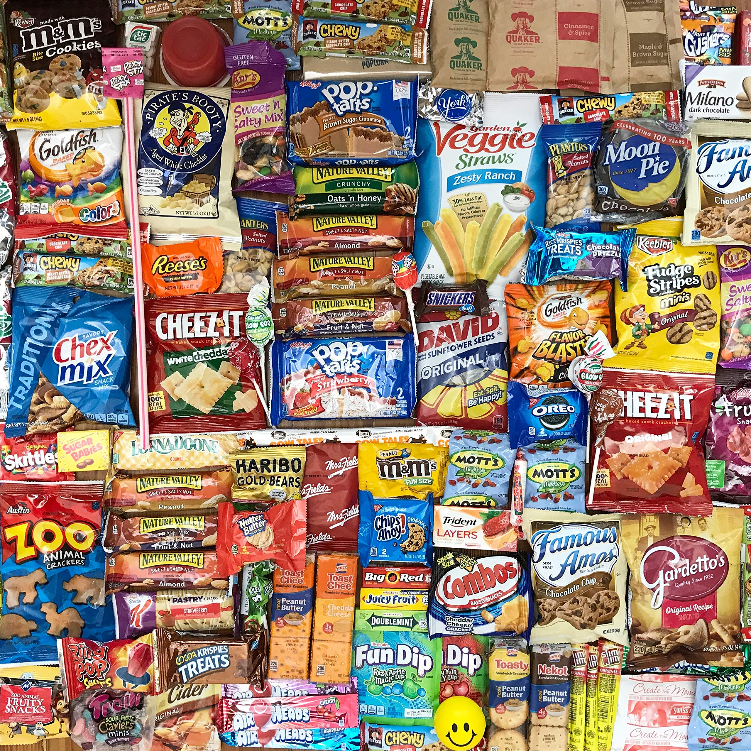 100 Office Snacks Care Package - Snack Pack Boxed Variety of Assorted Snacks 100 Count