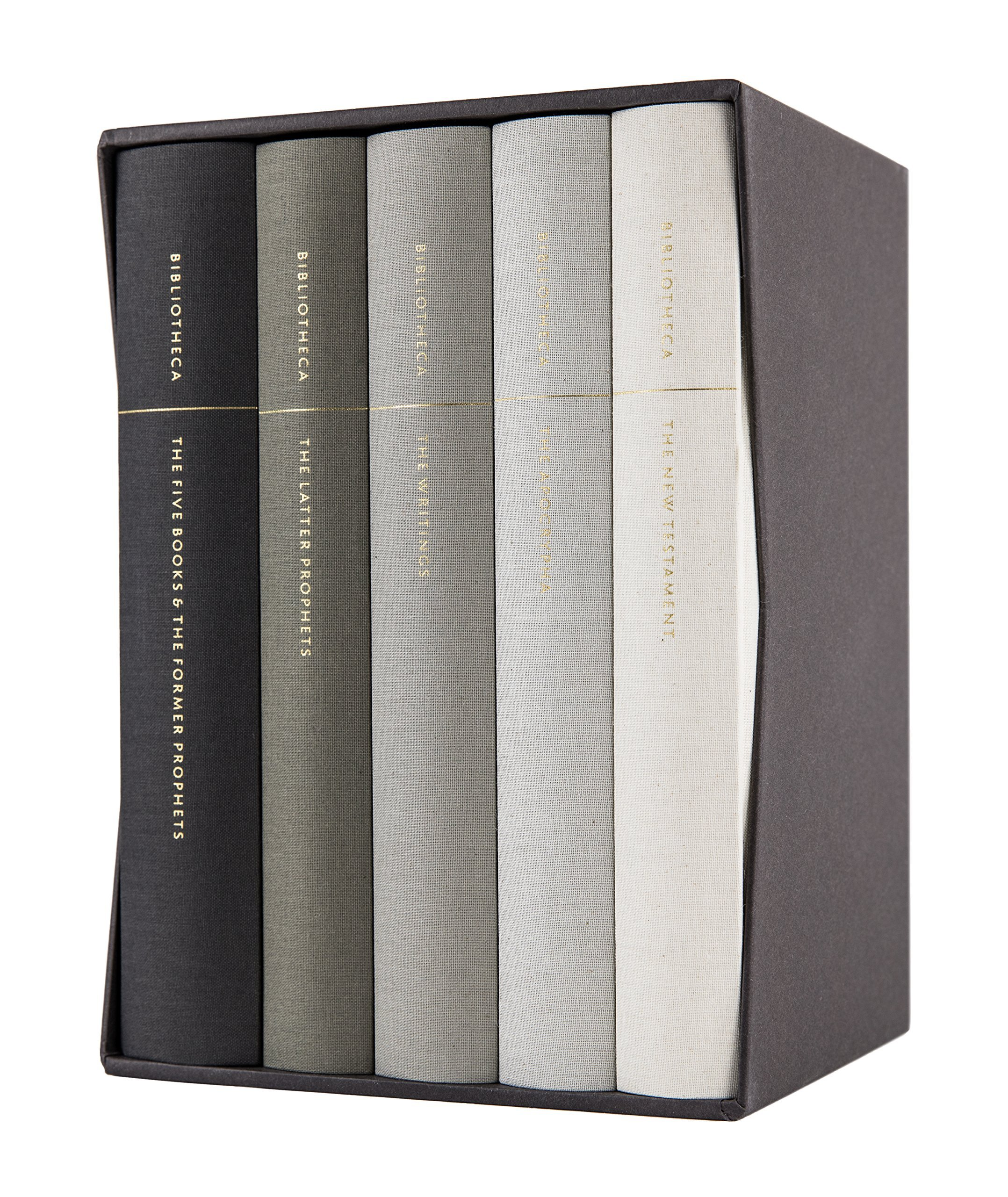 Download Bibliotheca: Complete Multi-volume Reader's Bible Clothbound Set, 5 Volumes (Including the Apocrypha) pdf