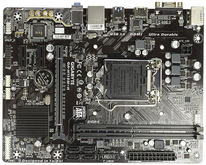 Gigabyte ga h110m h ddr4 motherboard socket 1151 pci ex16 micro gigabyte ga h110m h ddr4 motherboard socket 1151 pci ex16 micro atx 2 ddr4 2 ch hd audio gbe lan sata usb 30 vga hdmi buy fandeluxe Images
