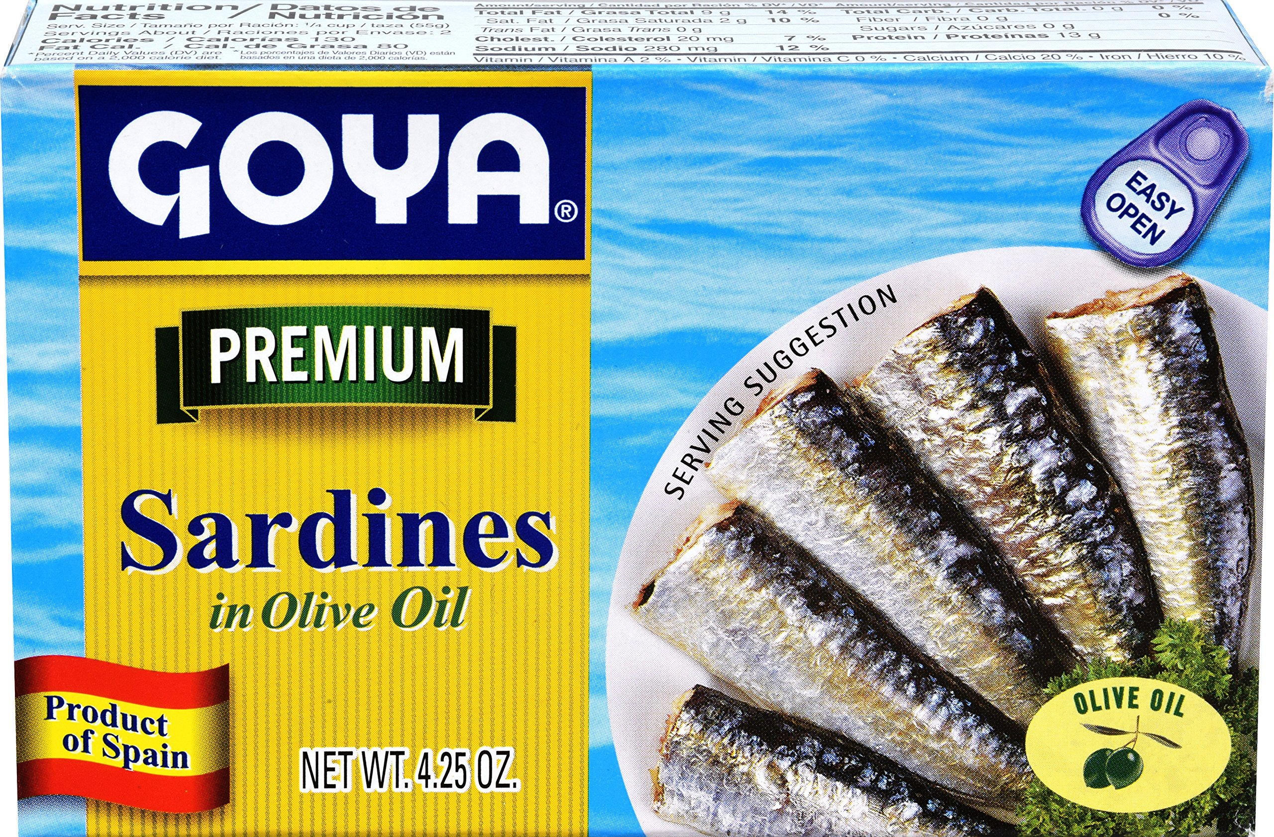 Goya Foods Sardines in Olive Oil, 4-Ounce (Pack of 25)