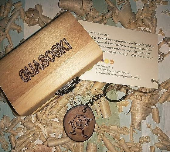LLaveros de madera personalizados con caja de madera personalizada