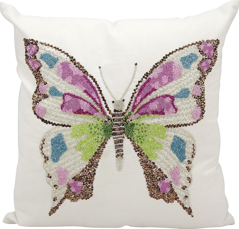 Nourison Mina Victory Mina Victory E2999 Multicolor Decorative Pillow 18 X 18