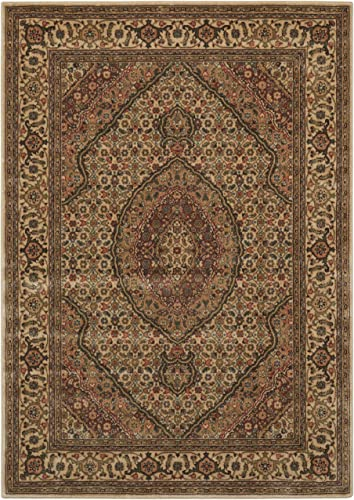 Nourison Persian Arts Ivory Rectangle Area Rug, 9-Feet 6-Inches by 13-Feet 9 6 x 13
