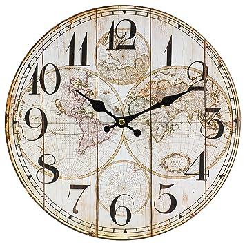 Perla pd Design Reloj de pared, de cocina, diseño vintage, diá