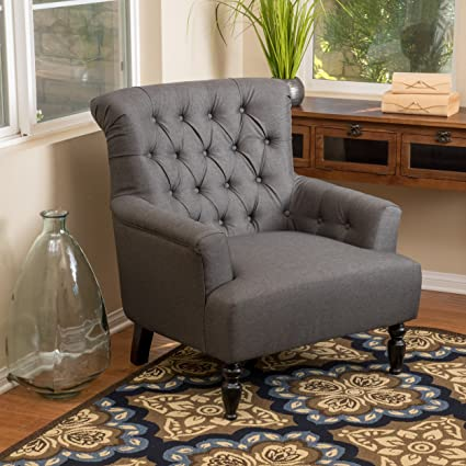 Excellent Harvey Dark Grey Fabric Club Chair Forskolin Free Trial Chair Design Images Forskolin Free Trialorg
