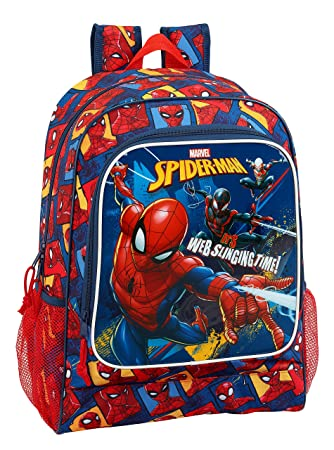 "Safta Mochila Escolar Spiderman ""Slinging Time"" Oficial 320x140x420mm"