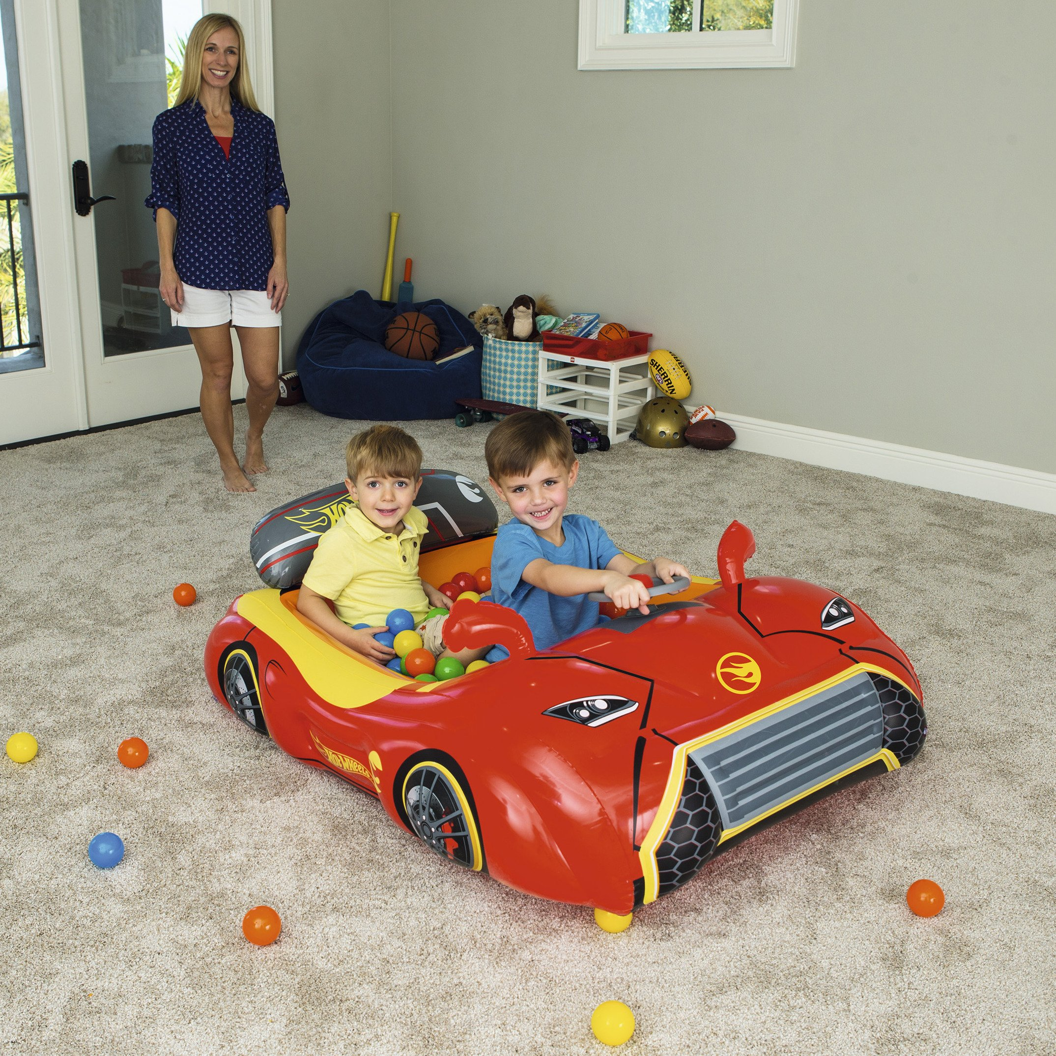 Bestway Hot Wheels Children's Inflatable Car Ball Pit, Includes 25 Balls by Bestway (Image #2)