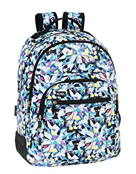 Safta Moos-Tot Diamonds Mochila Doble Adaptable, Color Azul: Amazon.es: Equipaje
