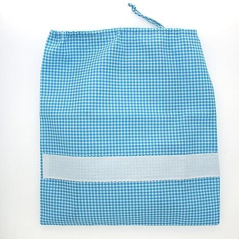 Coccole - Juego para guardería de tela, con diseño de «helicóptero turquesa», 4 piezas (2 baberos, 1 toalla y 1 bolsa), color turquesa, de 3 meses a 5 años, ...