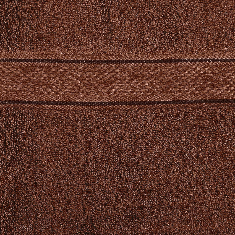 Pinzon 6 Piece Blended Egyptian Cotton Bath Towel Set Cocoa