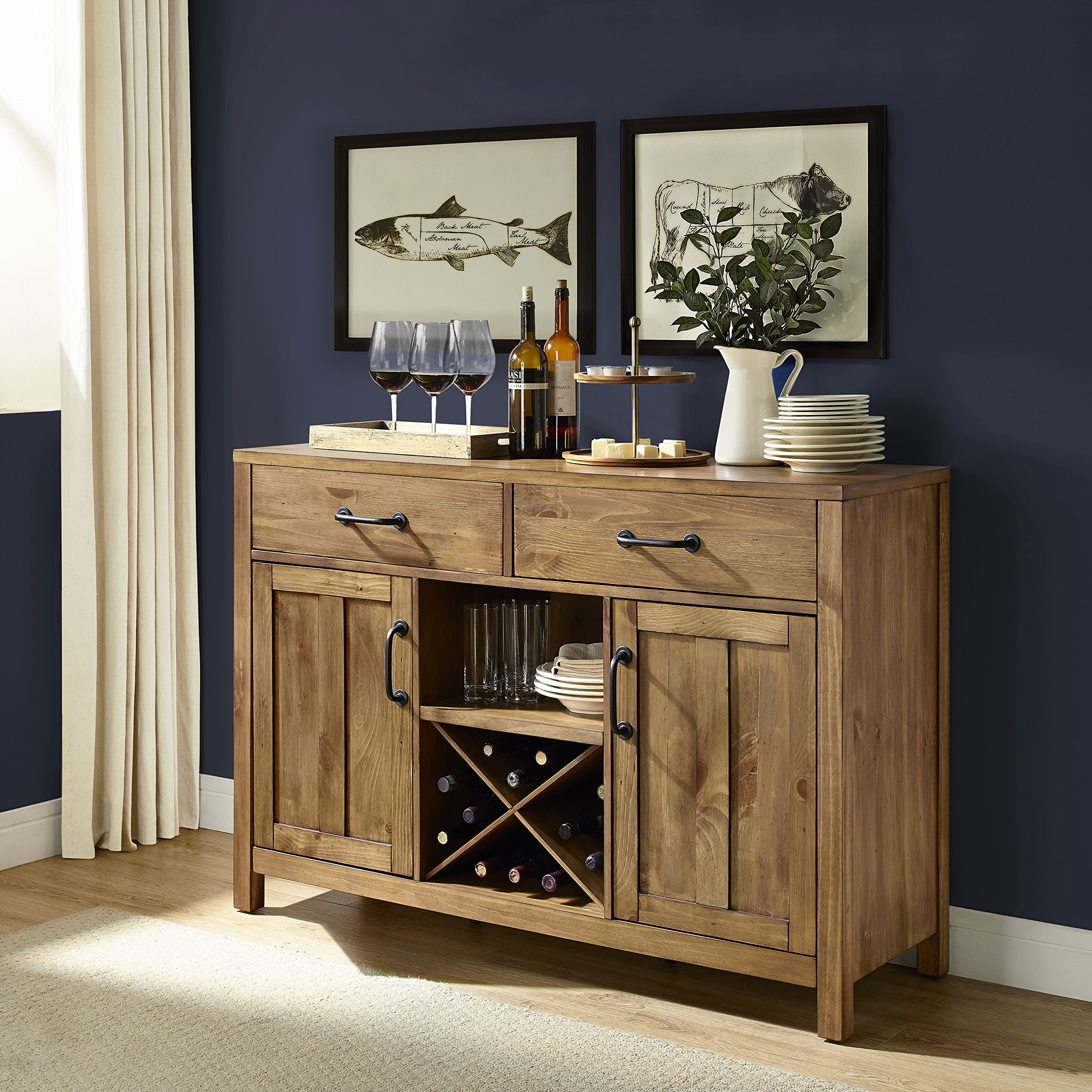 Crosley Furniture Roots Buffet Dining Room Storage - Natural by Crosley Furniture (Image #4)