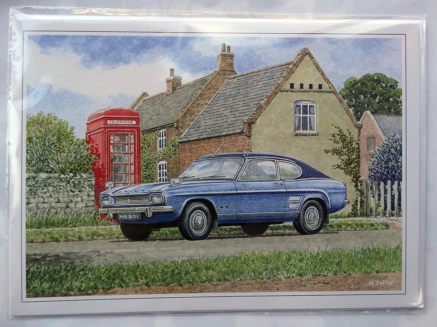 Nostalgic Classic Ford Capri MK 1 I One Card Design Open Blank Birthday Card