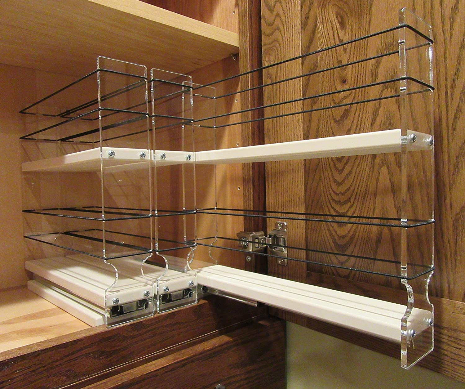 Amazon.com: Vertical Spice   222x2x11 DC   Spice Rack   Cabinet Mounted  3  Drawers   30 Capacity   New And Unique: Spice Racks For Kitchen Cabinets:  Kitchen ...