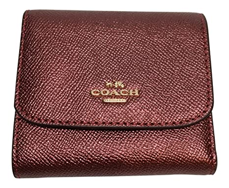 8809f4c0d23c Image Unavailable. Image not available for. Color  Coach Crossgrain Small  Slim Wallet Metallic ...