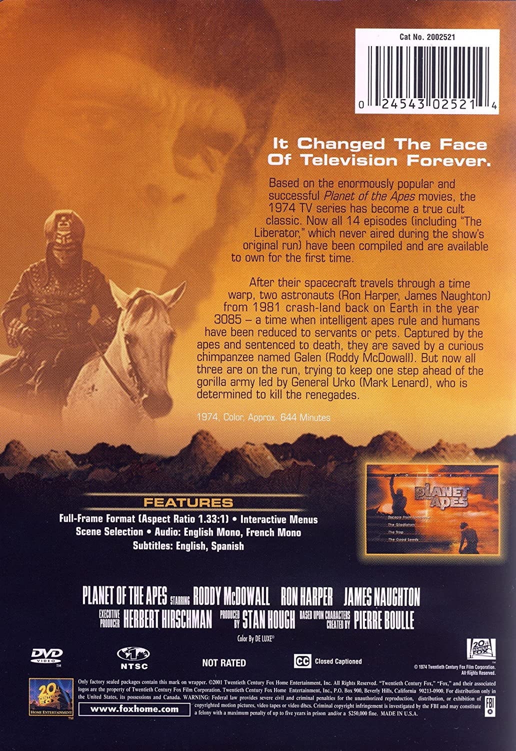 Amazon com: Planet of the Apes - The Complete TV Series