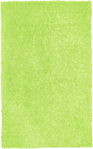 Green 21×34 Shagadelic Chenille Twist Rug