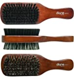 Diane D8114 5-Inch Men's Boar Bristle Palm Brush - Black