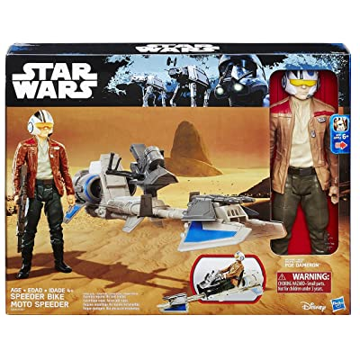 Star Wars The Force Awakens 12-inch Speeder Bike: Toys & Games