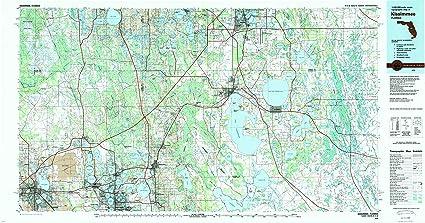 Kissimmee Florida Map.Amazon Com Yellowmaps Kissimmee Fl Topo Map 1 100000 Scale 30 X