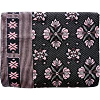 "COMFORT WEAVE SOLAPUR CHADDAR Cotton Blanket 60"" X 90"" (Multicolor)"