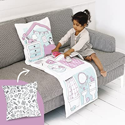 Sago Mini 2-in-1 Fold Up Pillow Playset, Robin's Doll House with Plush Accessories for Toddlers: Toys & Games