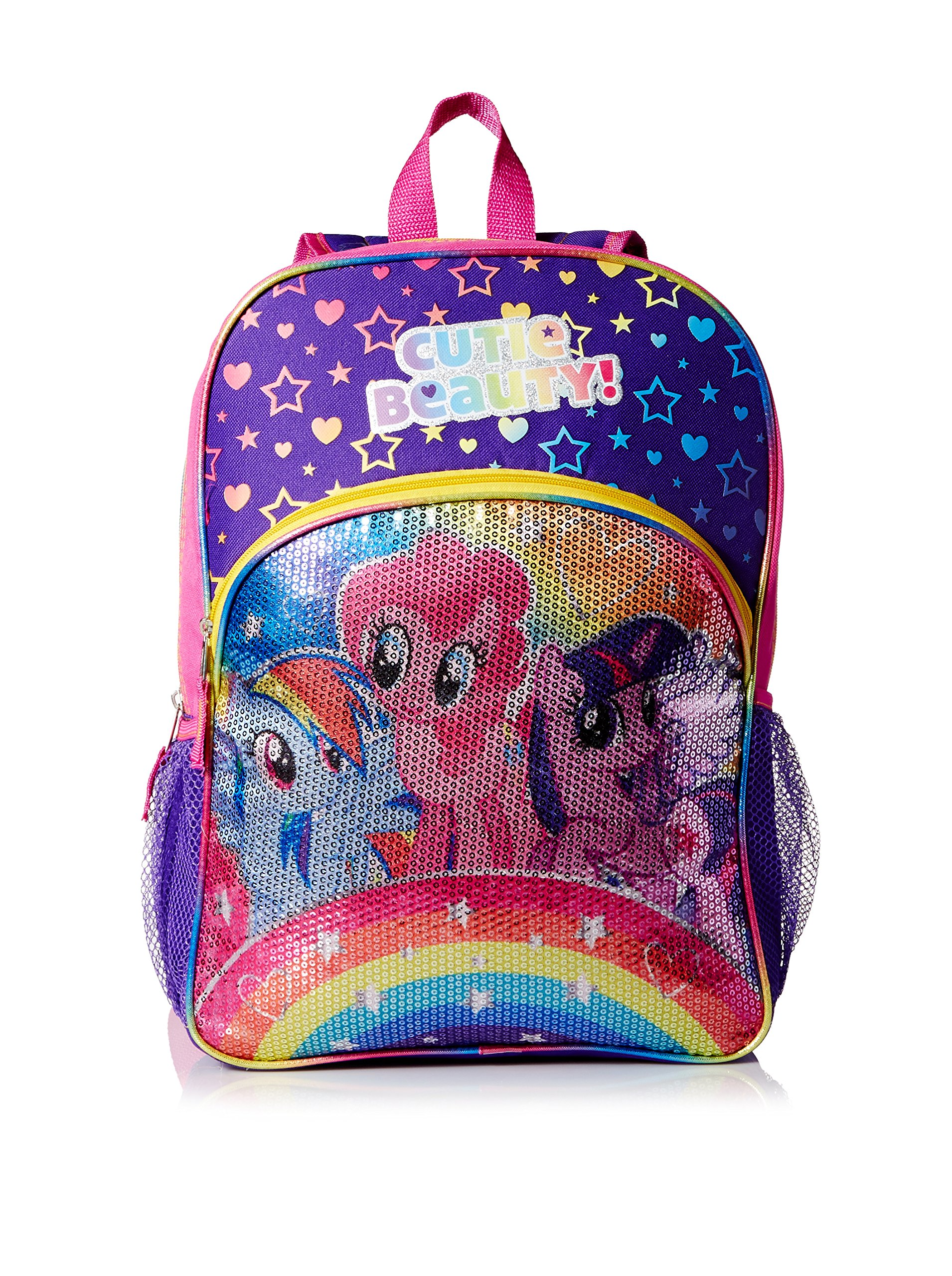My Little Pony Kid's ''Rainbows Sequins'' 16-Inch Backpack, Multi