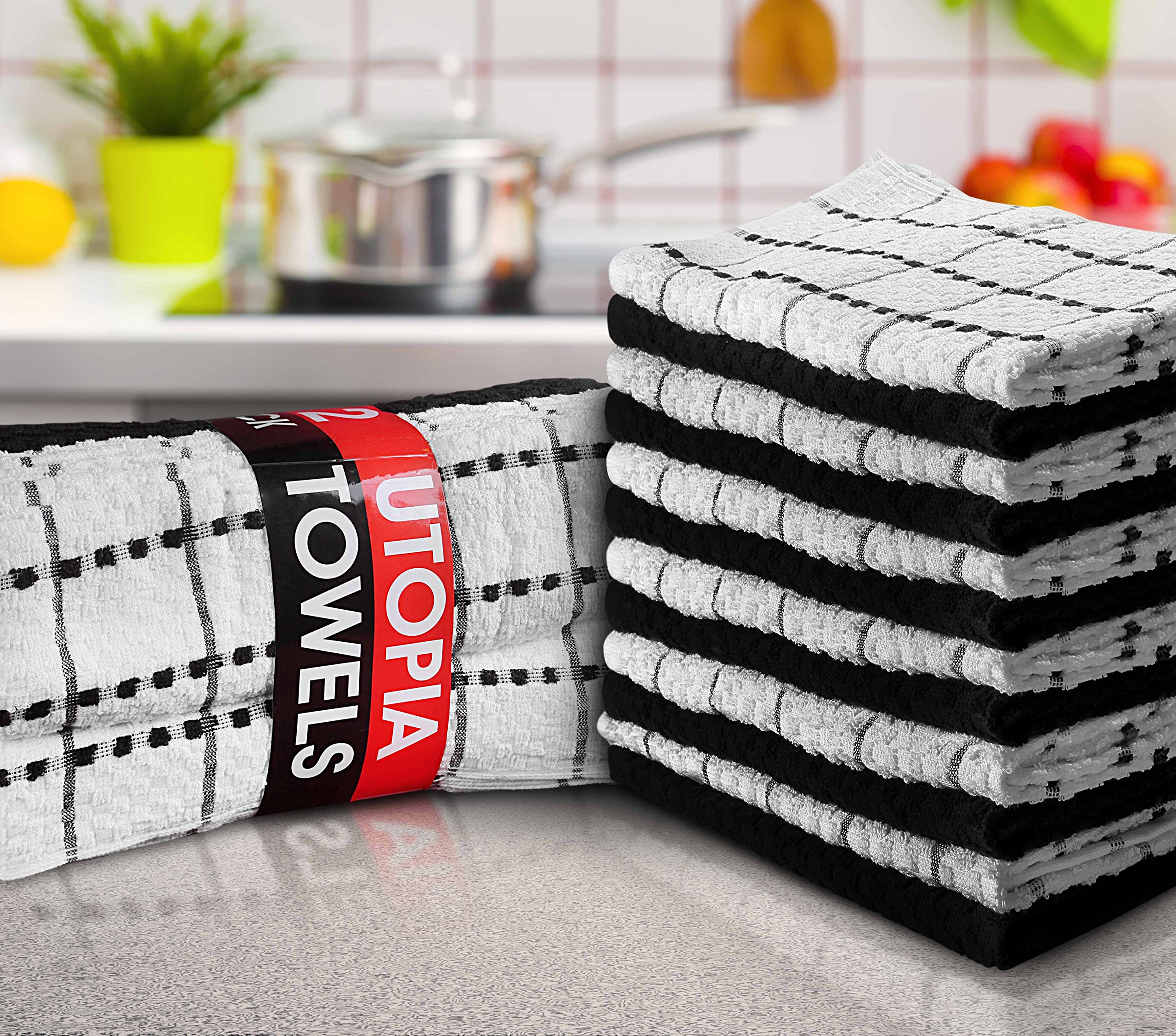 Utopia Towels 12 Pack Kitchen Towels 15 x 25 inch Cotton Dish Towels, Tea Towels and bar Towels by Utopia Towels (Image #2)