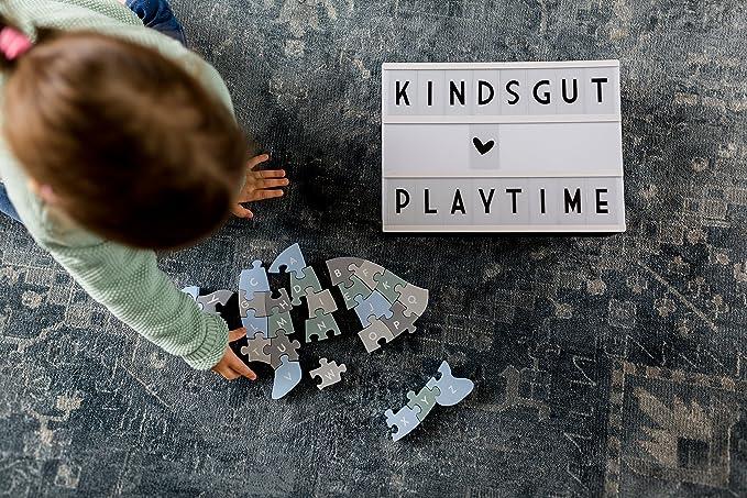 gioco per imparare Kindsgut puzzle in legno ad incastro lettere