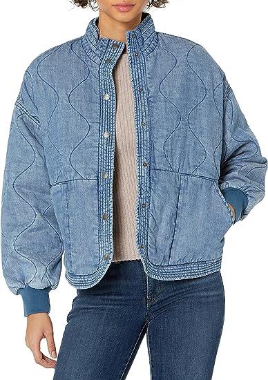 BLANKNYC womens Luxury Clothing Tencel Drop Shoulder Quilted Jacket