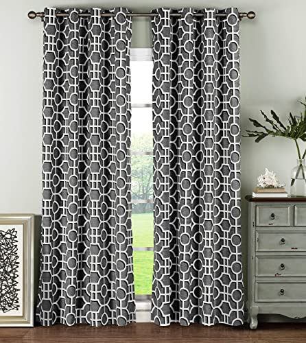 Window Elements Lenox 100 Cotton Grommet Extra Wide 104″ x 96″ Curtain Panel Pair