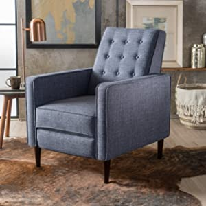 Christopher Knight Home 300594 Macedonia Recliner, Single, Dark Blue