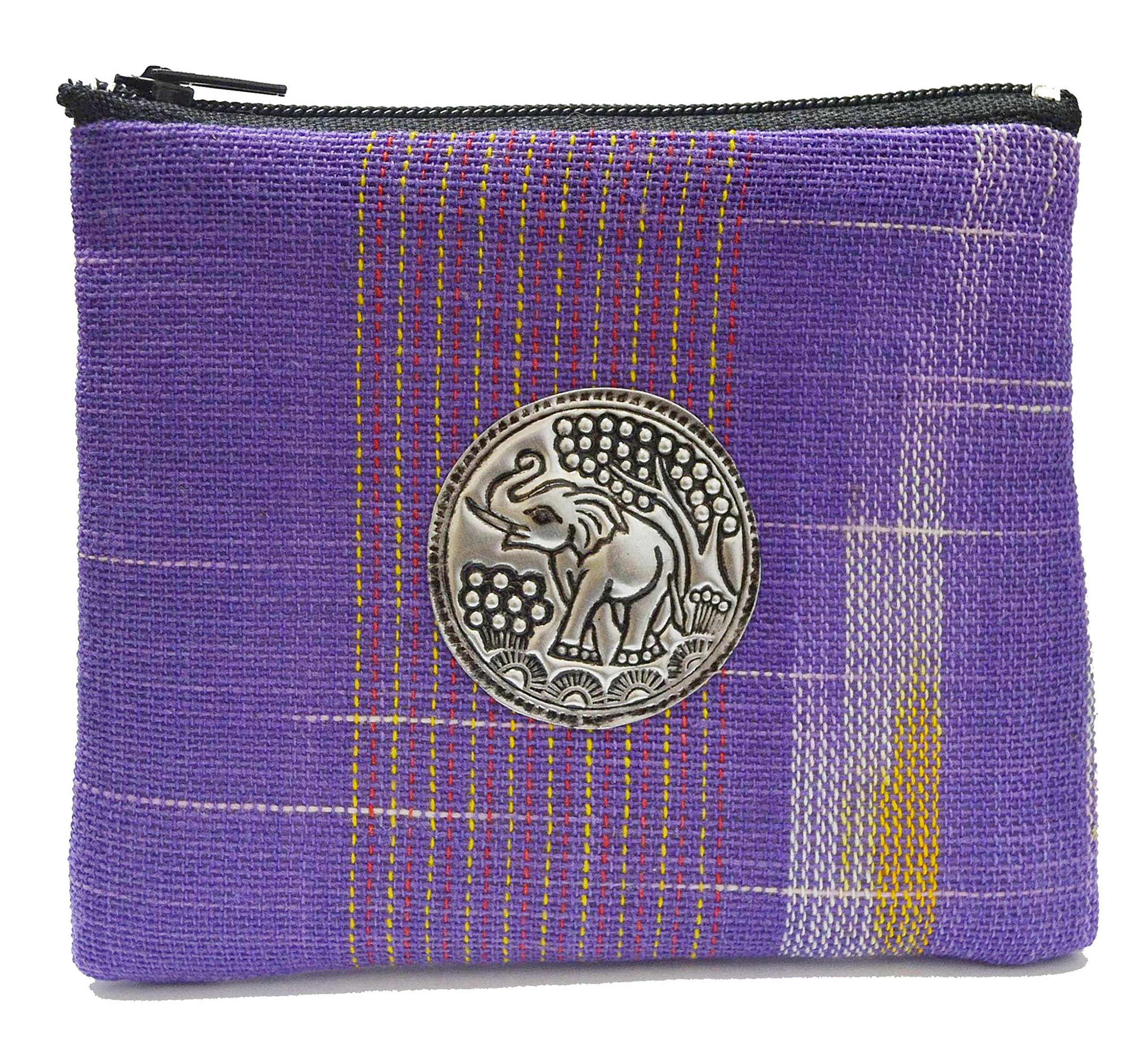 Thai Gift Thai Handmade Small Coin Bags Wallet Elephant Vintage Style From Thailand by Thai Cotton Bags Wallet
