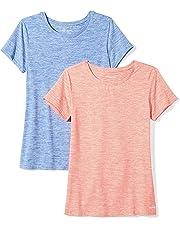d76e67591 Amazon Essentials Women's 2-Pack Tech Stretch Short-Sleeve Crewneck T-Shirt