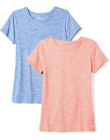 aa8c4599ddca4 Amazon Essentials Women's 2-Pack Tech Stretch Short-Sleeve Crewneck T-Shirt