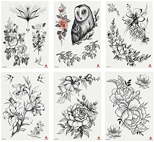 Nutrition Bizz Temporary Tattoos For Women Kids Teen Arm Tattoo Fake Tattoo Lotus Cherry Blossoms