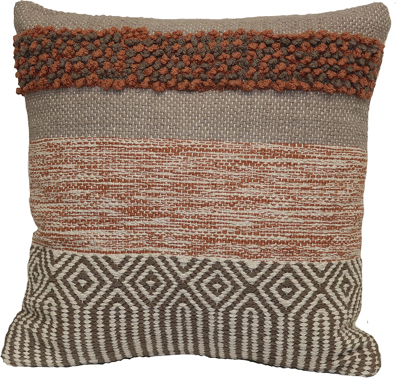"Brentwood Originals Textured Marled Pillow, 18"" x 18"", Terracotta"