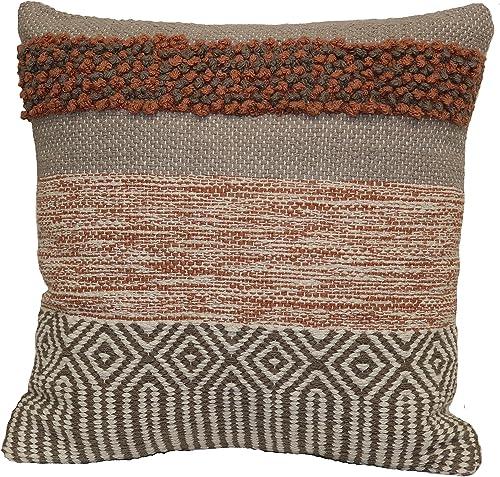 Brentwood Originals Textured Marled Pillow, 18 x 18 , Terracotta