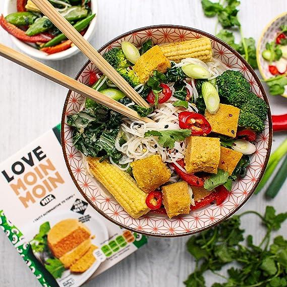 Love Moin Moin Mix – 3 x 200 g de harina de judías de ojos negros, alternativa de tofu libre de soja