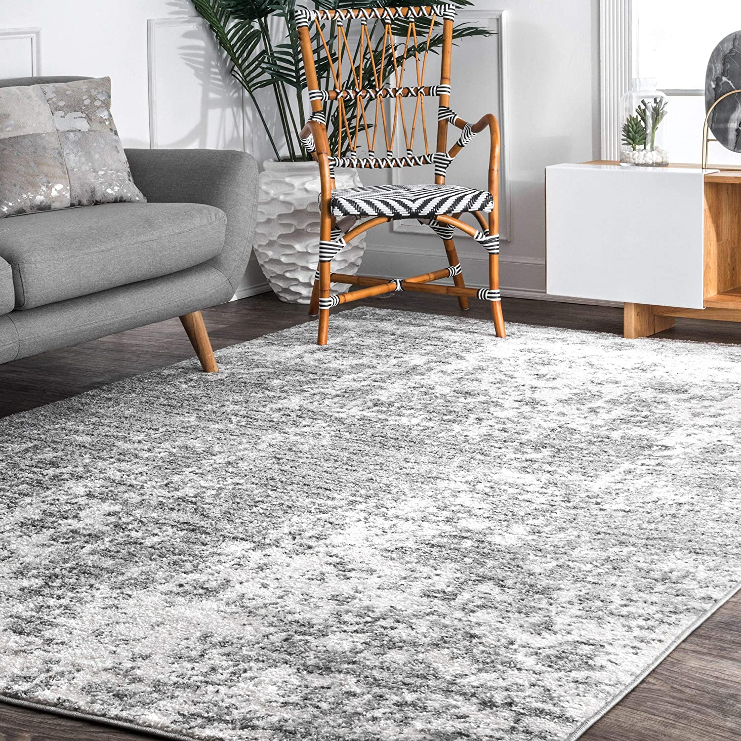 "nuLOOM BDSM08A Transitional Mist Shades Area Rug, 7' 6"" x 9' 6"", Gray"