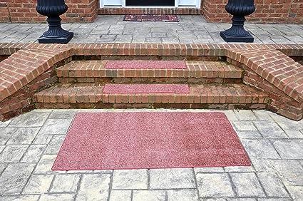 Dean Indoor/Outdoor Carpet Stair Treads   China Berry 36u0026quot; X 9u0026quot; (