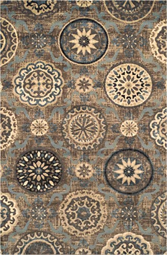 Superior Designer 5' x 8' Abner Collection Area Rug