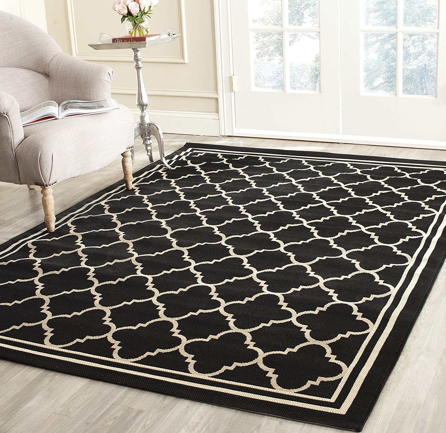 Amazon.com: Safavieh Courtyard Collection CY6918-226 Black and ...