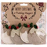 Set 4 Natural Christmas Pudding Decorations Vintage Christmas Tree Hangers by from Then to Now