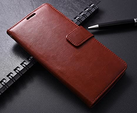 Mobi Case Premium Pu Leather Flip Wallet Stand Cover Inner TPU Back for Samsung Galaxy J7 Prime   Executive Brown