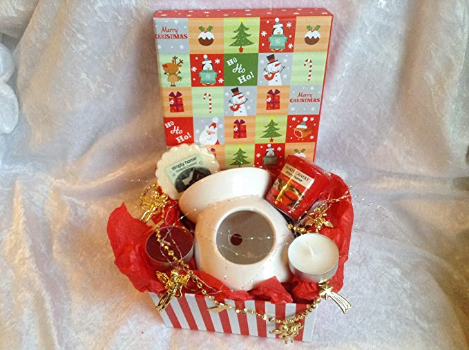 Image Unavailable Not Available For Colour CANDY CANE STRIPE XMAS YANKEE CANDLE GIFT SET CHRISTMAS BIRTHDAY