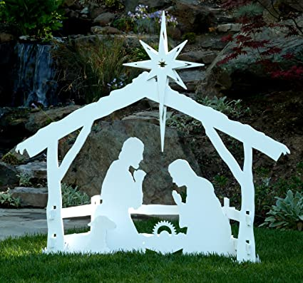 Amazon large outdoor christmas nativity set by mynativity 3 large outdoor christmas nativity set by mynativity 3 sizes available solutioingenieria